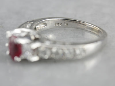 Ruby and Diamond Encrusted Engagement Ring