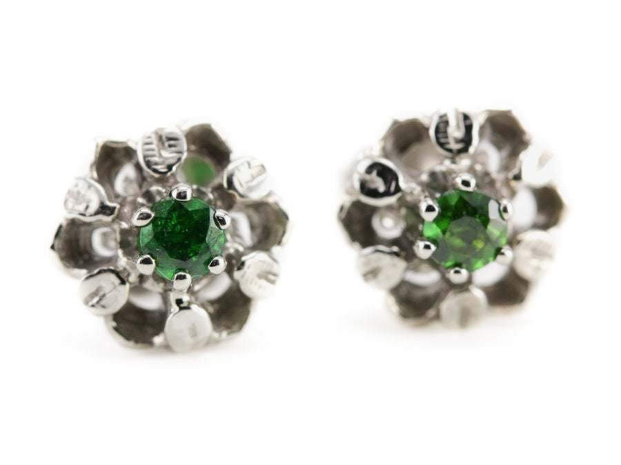 The Stardust Demantoid Garnet Stud Earrings by Elizabeth Henry