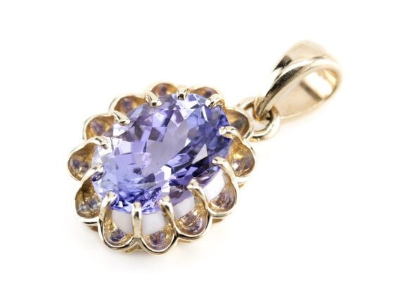 Tanzanite Pendant in The Elsie Setting from Elizabeth Henry