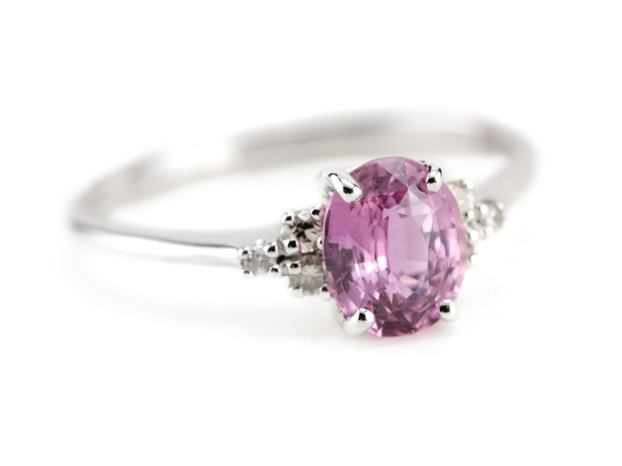 The Virginia Rose, Light Pink Sapphire Engagement Ring, from The Elizabeth Henry Collection