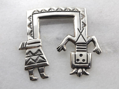 Native American Kachina Sterling Silver Pin or Pendant