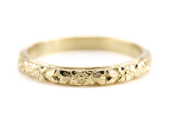 The Lillian Band in 18K Yellow Gold from The Elizabeth Henry Collection