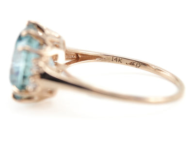 The Morgan Blue Zircon Cocktail Ring from the Elizabeth Henry Collection