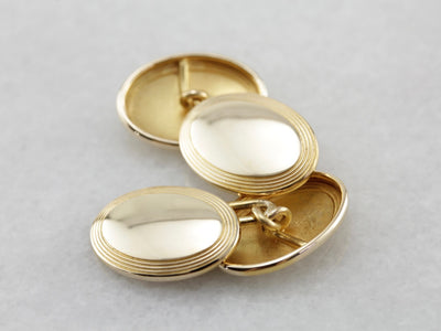 Timeless Polished Yellow Gold Cufflinks