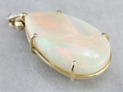 Forty Fine Carats: One of a Kind Ethiopian Opal Pendant with Diamond Accents  HZJE6Z