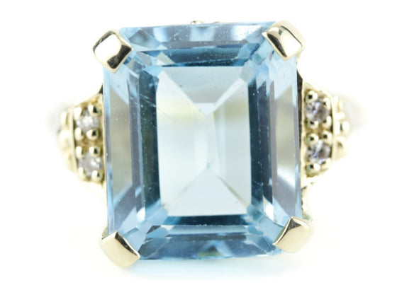 The Juliana Blue Topaz Cocktail Ring by Elizabeth Henry