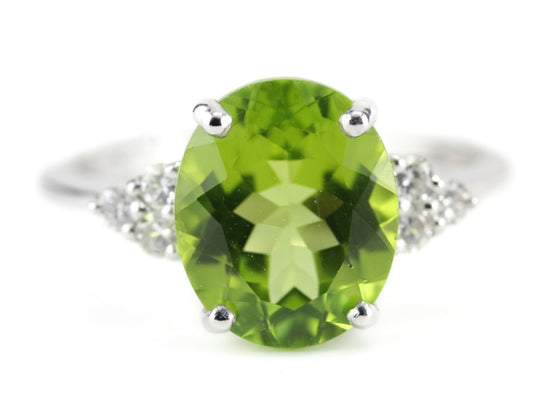 Peridot Cocktail Ring in The Elnora Setting by Elizabeth Henry