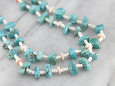 Native American Turquoise Nugget Necklace