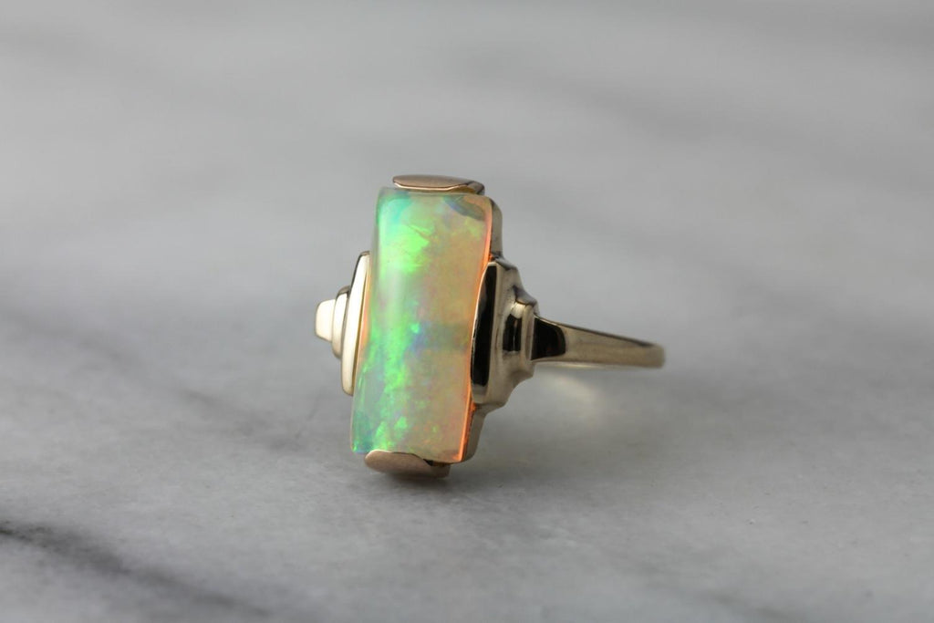 Ethiopian Opal and Fine Retro Era Mounting