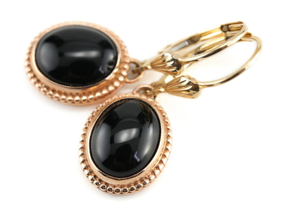 The Emma Onyx Drop Earrings from The Elizabeth Henry Collection