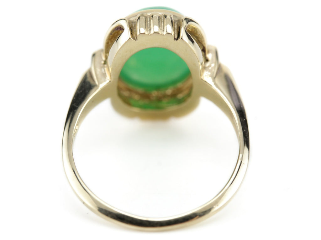 The Hadley Chrysoprase Ring from The Elizabeth Henry Collection