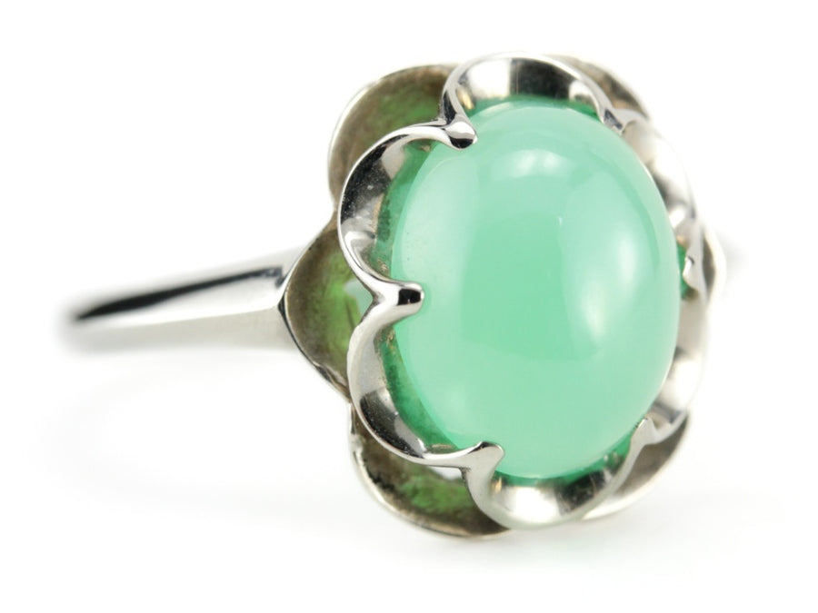 The Flora Chrysoprase Cocktail Ring by Elizabeth Henry
