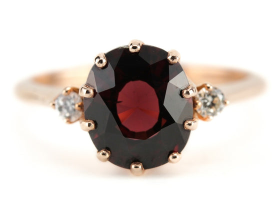 Garnet and Rose Gold Layla Ring from The Elizabeth Henry Collection