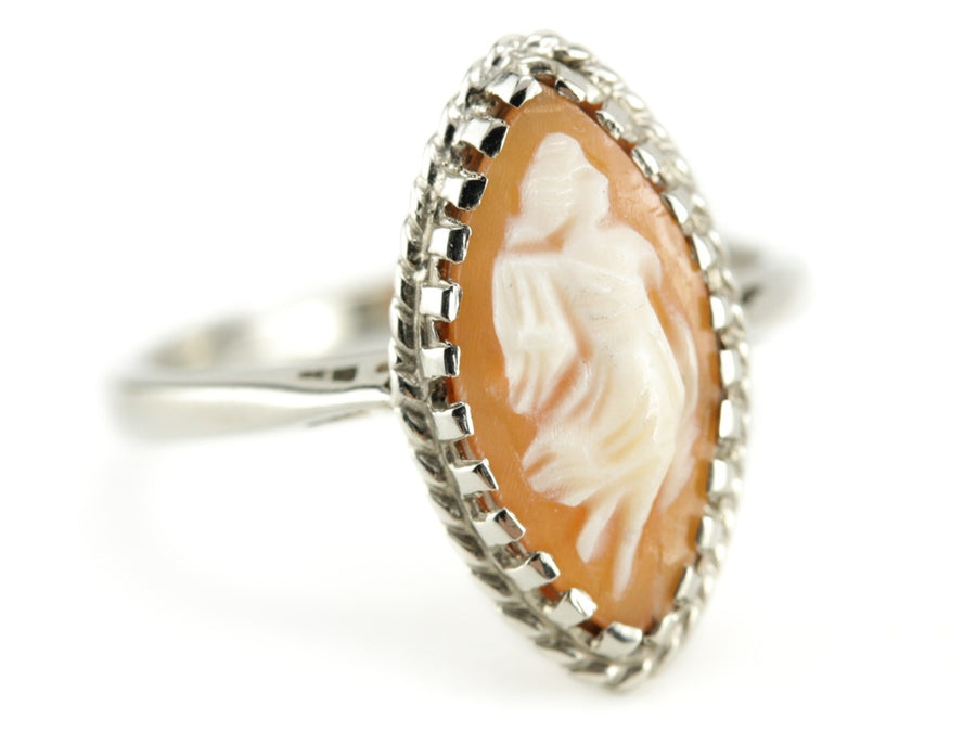 Marquise Cameo Cocktail Phoebe Ring from The Elizabeth Henry Collection