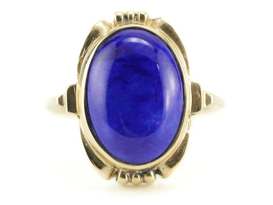 The Hadley Lapis Statement Ring by Elizabeth Henry