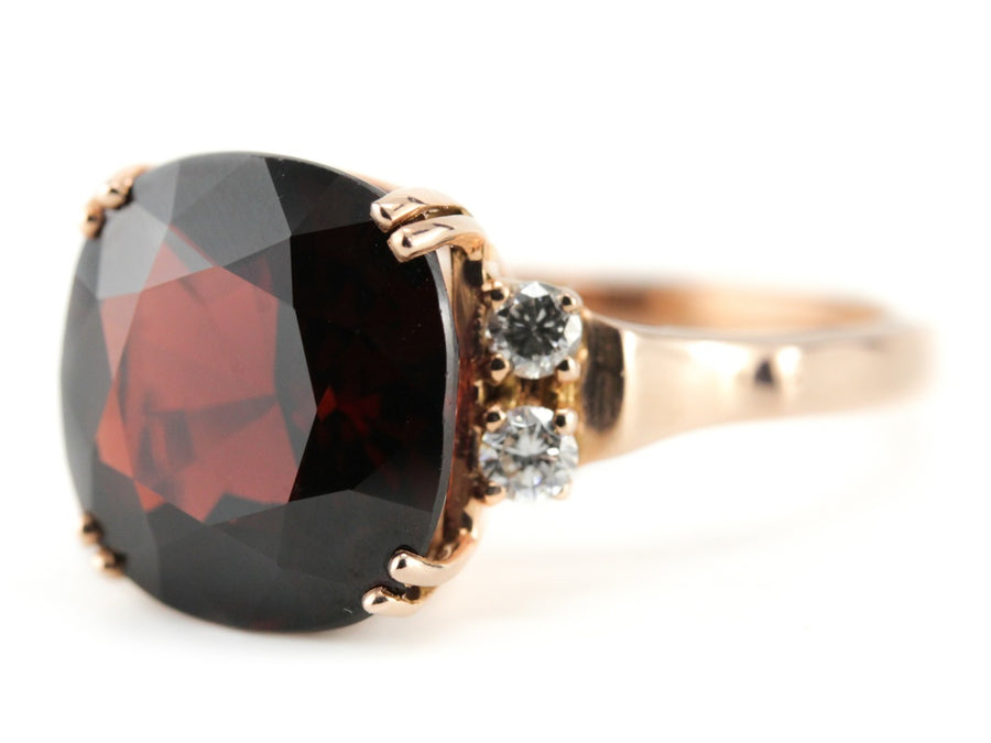 Garnet Rose Gold Sadie Ring by Elizabeth Henry