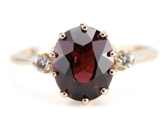 The Layla Garnet and Diamond Ring from The Elizabeth Henry Collection