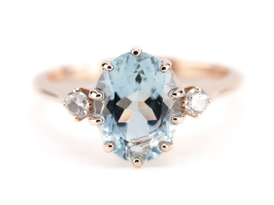The Layla Aquamarine and Diamond Ring from The Elizabeth Henry Collection