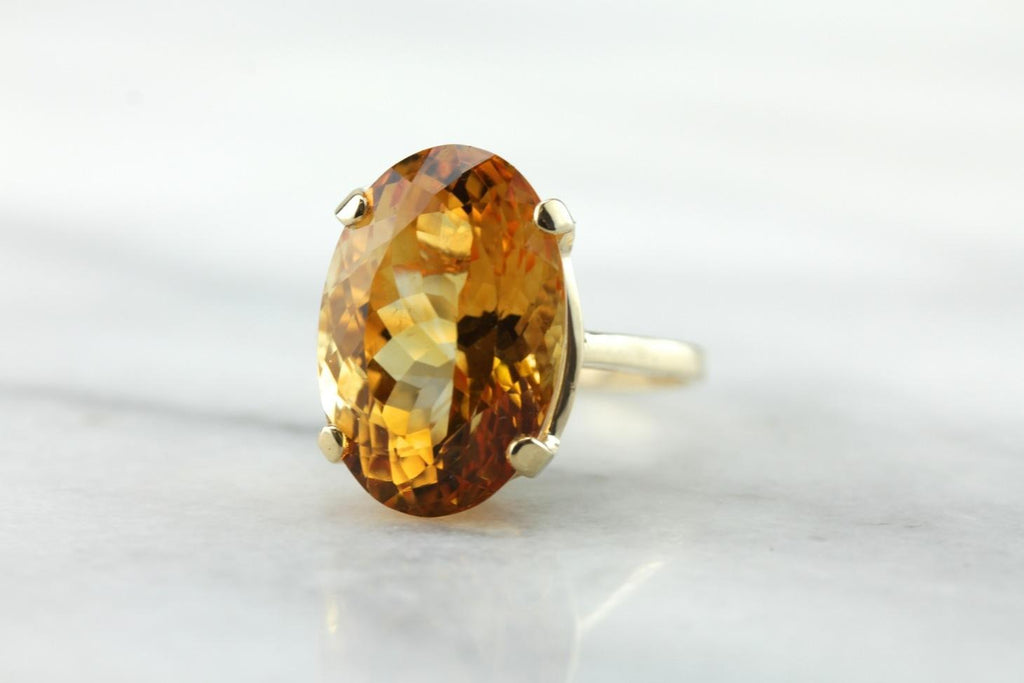 Golden Light: Sun Kissed Citrine Cocktail Ring