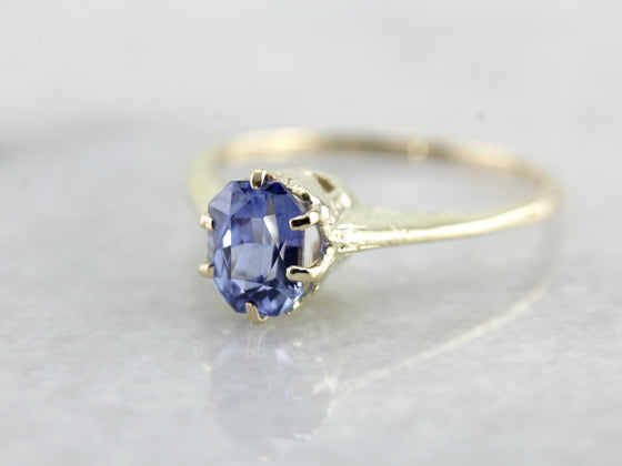 High Mounted Sapphire Engagement Ring
