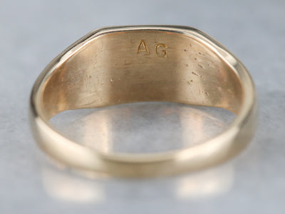 East West Signet Ring