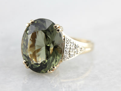 Stunning Green Tourmaline Cocktail Ring