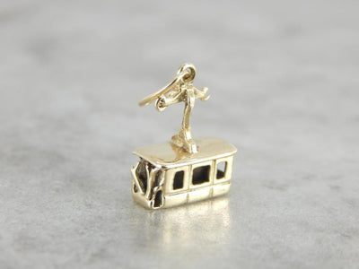 Vintage Gondola Charm or Pendant in Yellow Gold