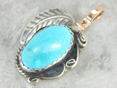 South Western Native American Turquoise Pendant