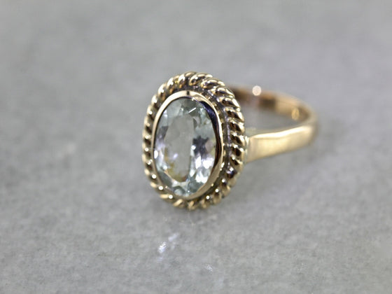 Light Blue Sillimanite Cocktail Ring
