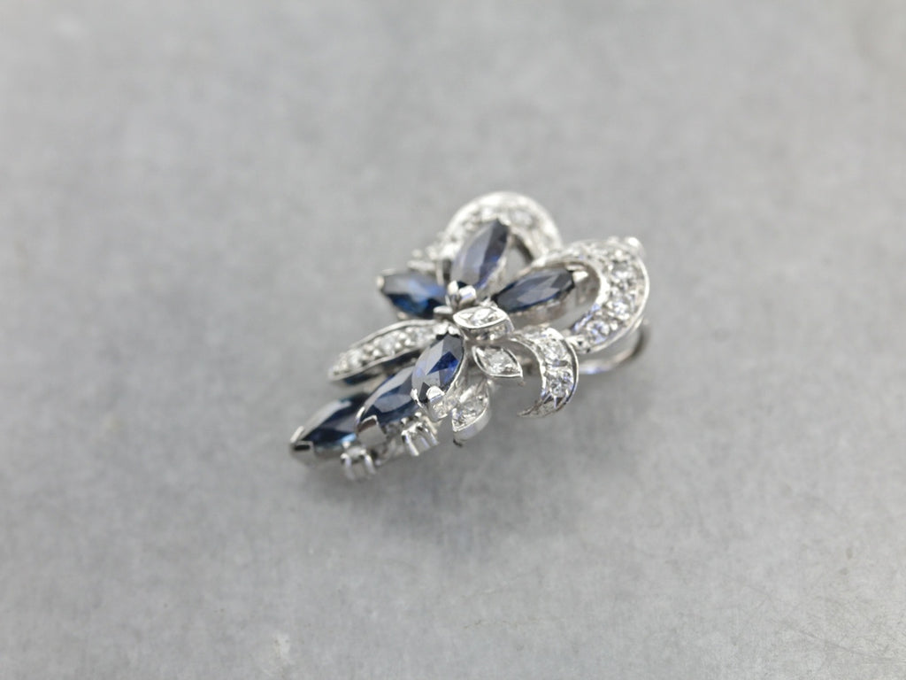 Gorgeous Marquise Sapphire Pendant