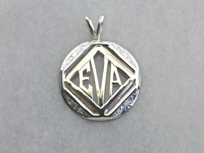Upcycled Eva Mixed Eras Name Pendant