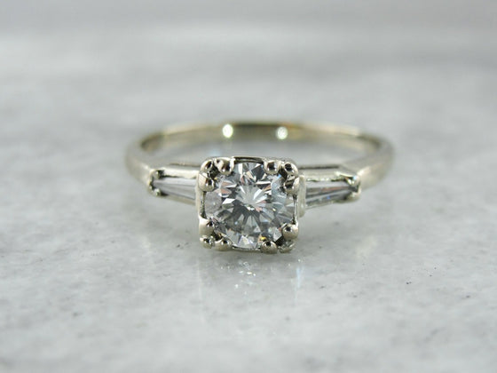 Diamond Retro Era Engagement Ring