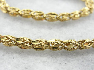 Vintage Gold Necklace for Wearing Alone or Layering