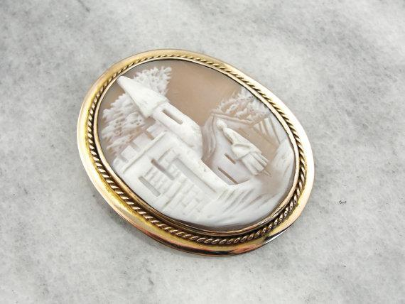 Landscape Cameo from the Victorian Era