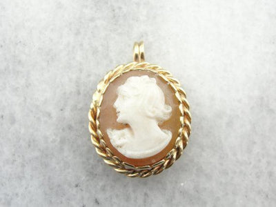Classical Cameo Pendant Simple Frame