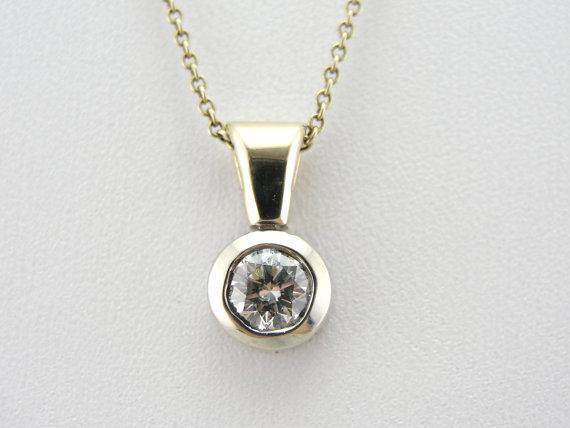 Diamond Slide Gold Pendant,