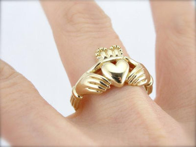 14 Karat Yellow Gold Claddagh Ring