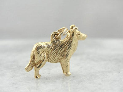 Lassie Come Home, Collie Dog Charm or Pendant