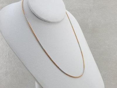 Vintage Platinum and Gold Twist Chain