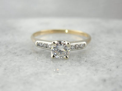 Vintage Retro Diamond Engagement Ring