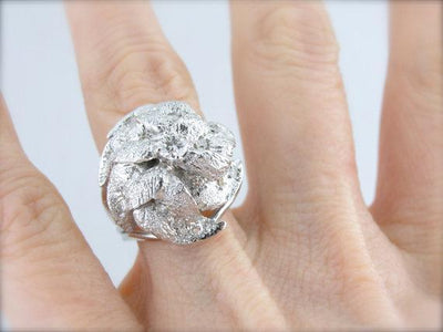 Diamond White Gold Statement Ring