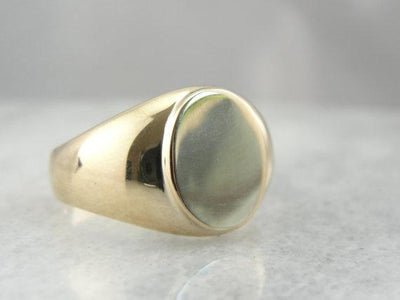 10 Karat Yellow Gold Plain, Signet Ring