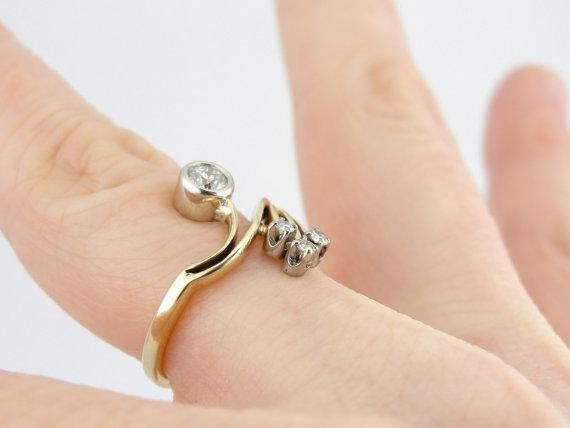Vintage  Bypass Diamond Cocktail Ring