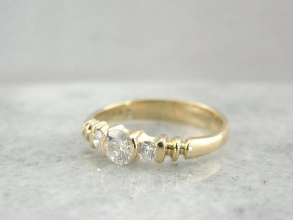 Diamond Engagement Ring, Low Profile