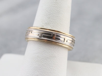 Men's Greek Key Pattern Band