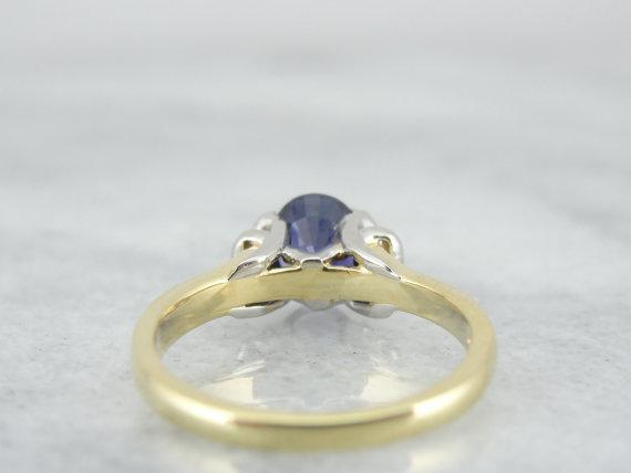 Vibrant Purple Ceylon Sapphire, Ladies Cocktail or Engagement Ring