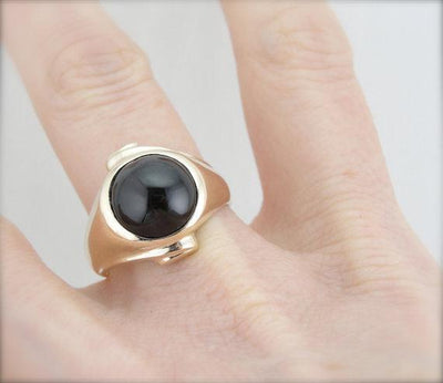 Cat's Eye Sillimanite Gold Statement Ring