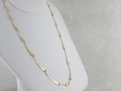 Hand Made Modernist Yellow Gold Necklace