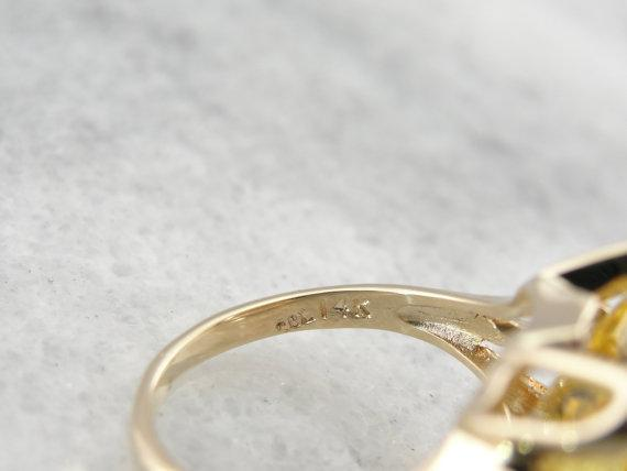 Golden Scapolite Cocktail Ring
