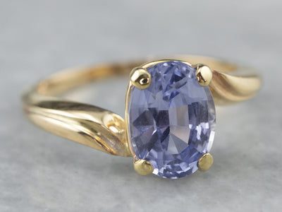 Sapphire and Gold Solitaire Ring